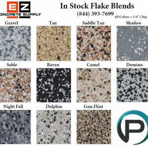 11 Most Popular 1/4″ Color Flakes 50#