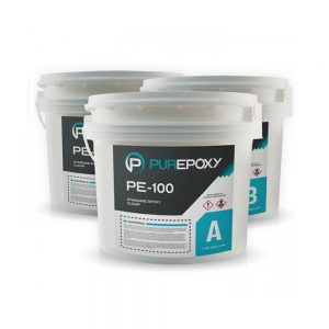 PE-100 – Standard Transparent Epoxy 100% Solid 3 gal