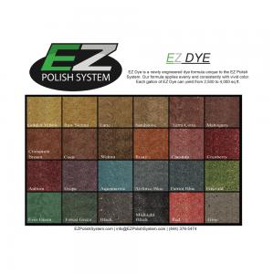 EZ Polish Dye Color Chart