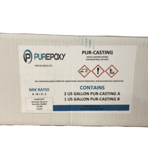 PUREPOXY PURECAST 100% SOLID CASTING EPOXY – 3 GAL KIT
