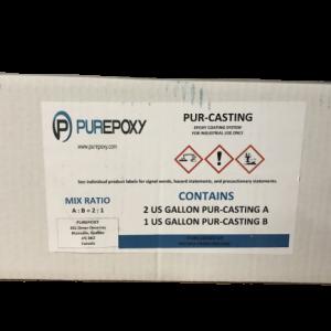 PUREPOXY PURECAST 100% SOLID CASTING EPOXY – 3 GAL KIT
